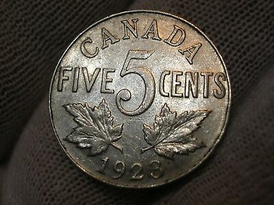 1923 Canadian Five Cent Nickel 003