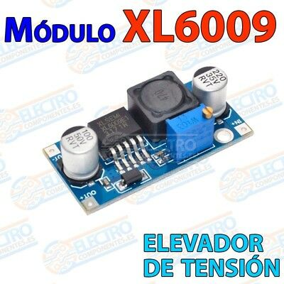XL6009 Regulador elevador tension DC-DC Booster step-up alimentador 3-32v 5-35v