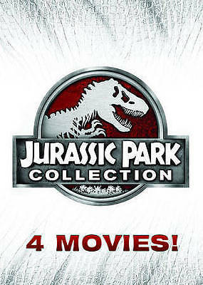 Jurassic Park Collection: 4 Movie Set! (DVD 2015, 6-Disc Set) New! Free Shipping