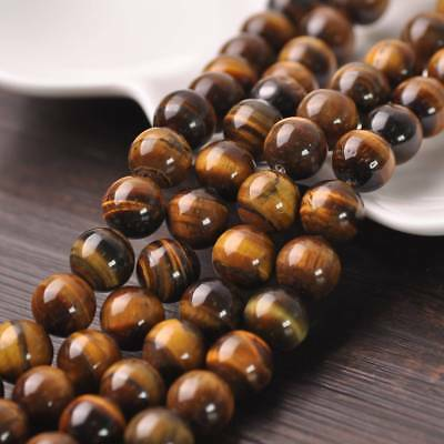 Natural Tiger's Eye Stone Gemstone Loose Spacer Beads 4mm/6mm/8mm/10mm/12mm
