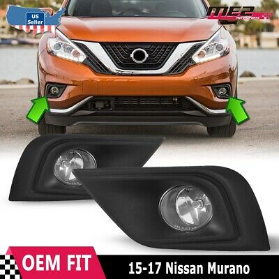 For Nissan Murano 09-12 Factory Bumper Replacement Fit Fog Lights Clear Lens