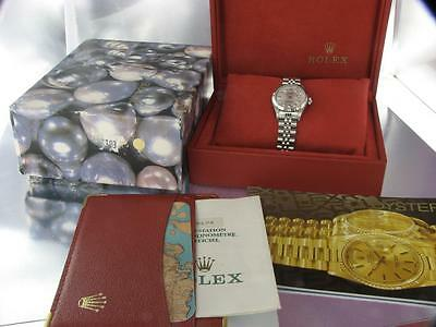 Rolex Ladies Datejust Steel Diamond Watch Automatic Rolex Box  And Papers