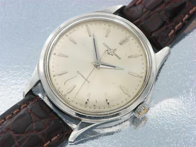 Ulysse Nardin Mens Vintage Stainless Steel Automatic Watch Silver dial