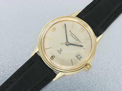 Girard Perreagux Gyromatic 14K Gold Mens Automatic Vintage Watch