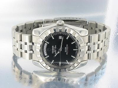 TUDOR ROTOR DAY DATE MENS AUTOMATIC STAINLESS STEEL WATCH Ref: 23010