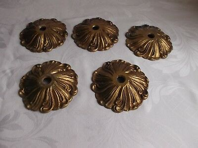 French 5  ornate bronze canopy for part of chandelier classic patterned