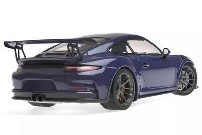 New 1/18 Minichamps 2015 Porsche 911(991) GT3 RS Ultraviolet Purple Blue 1,002pc