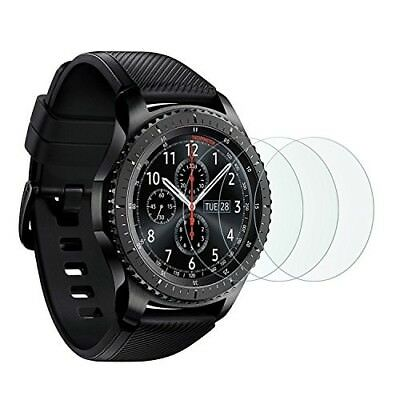 Samsung Gear S3 Screen Protector Full Coverage Tempered Glass Bubble Free 3 Pack