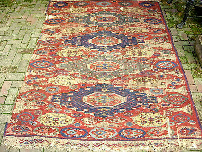 Rare Large Antique Caucasian Soumak Carpet C 1850