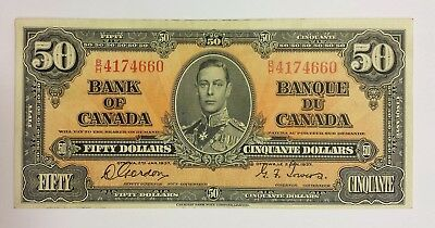 Bank of Canada 1937 $50 banknote  in VF condition. D099