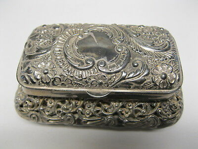 Victorian Silver Plate Repousse Dresser Lined Dresser Box  By Wilcox