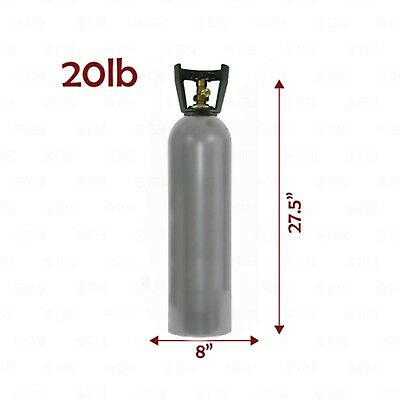 20lb Aluminum CO2 Tank with Handle! Freshly Reconditioned & Certified!