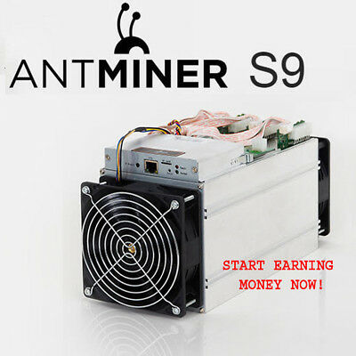 Antminer S9 14 THash/sec, One Week-168 Hours SHA256 Mining Contract Bitcoin, BTC