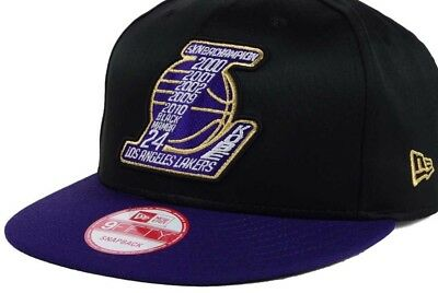 4a41c723b37 Kobe Bryant New Era Los Angeles Lakers 5X NBA Champion Hat Snap Back Black  NWT