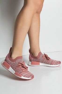 best sneakers 390bf 7bb17 Adidas Women NMD R1 STLT Primeknit Sneakers Shoes Pink white Brandnew Size  5.5