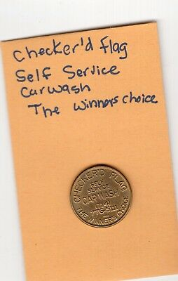 Token Checker'd Flag Car Wash Token Self Service The Winner's Choice