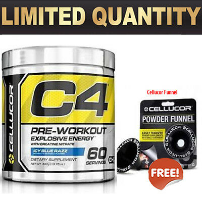 Cellucor C4 60 Serves Pre Workout C4 Gen Energy Creatine Free Powder Funnel