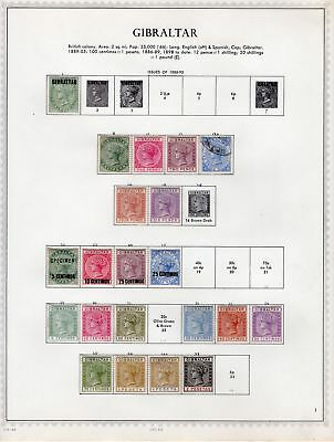 Gibraltar Collection From 1886 To 1973  Scott Catalog Is Over $2000.00 A Beauty
