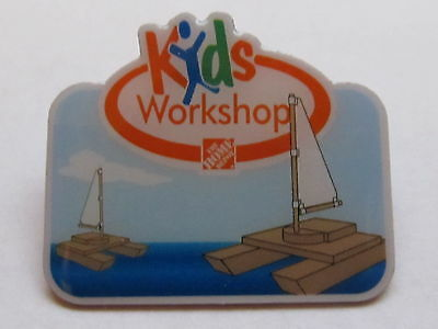 home depot collectibles home depot kids workshop sail boat lapel pin