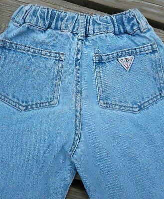 VTG GUESS Kids Pants 4T Boy Girl Toddler Blue Jeans Denim Wash 80s Skateboard