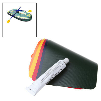 Swimming Pool Inflatable Boat PVC Puncture Repair Patch Glue Kit Adhesive Canoe