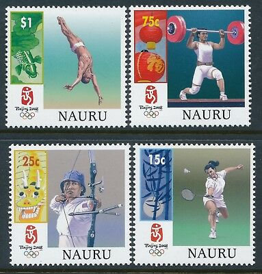 2008 Nauru Olympic Games: Beijing Set Of 4 Fine Mint Mnh