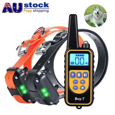 Rechargeable Electronic Dog Training Collar Remote control Anti Bark Trainer