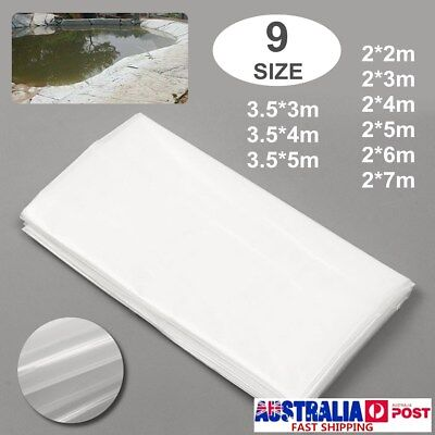9 Size White Fish Pond Liners Pools Underlay Impermeable Waterproof Geomembrane