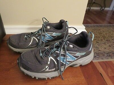 b77905762ea38 Womens NEW BALANCE 570 All Terrain Sneakers Hiking Trail Shoes Gray &Blue  Size 9