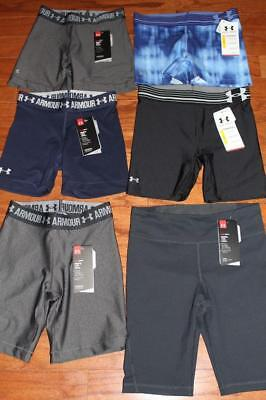 "Lot 6 Womens Under Armour Compression Shorts Middy Shorty 3"" 1271779 1277297 Xs"