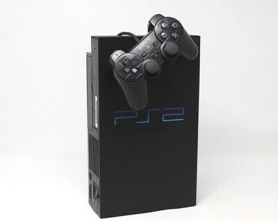 Sony ps2 Playstation 2 Play station NERA FAT CONSOLE COMPLETA inv-1738