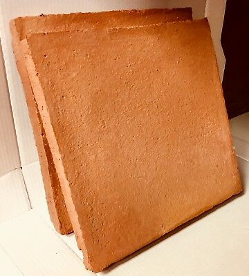 TERRACOTTA PAVING SLABS 450x450x40mm Sale £75m2 HANDMADE & FROST PROOF