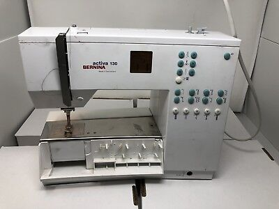 BERNINA ACTIVA 40 Sewing Machine Turns On Cycles Untested 4040 Fascinating Bernina Activa 130 Sewing Machine