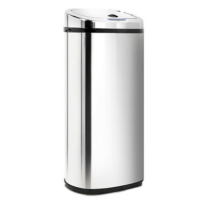 Stainless Steel Motion Sensor Rubbish Bin Quiet Operation Large Capacity 50L
