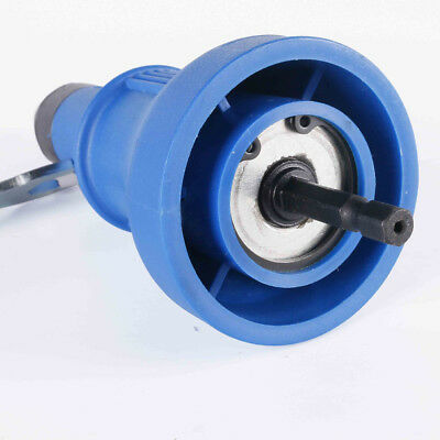 Blue Electric Rivet Nut Durable Drill Adapter Riveting Tool Steel ABS