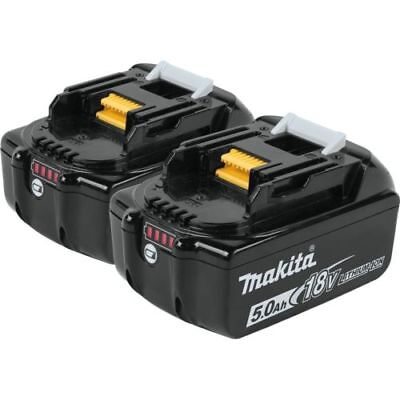 Genuine Makita 18V UK / CE 5.0Ah Li-Ion LXT Battery 5000MAH Pair BL1850B X2 2PCS