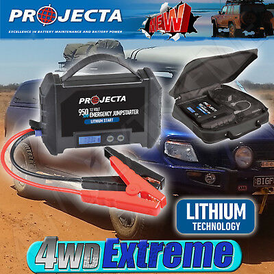 Projecta 12V Lithium Jump Starter and Portable Power Bank New LS950 950A