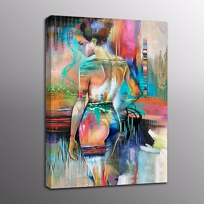 Abstract Canvas Prints Human Body Art Naked Oil Painting Art Picture Home Decor