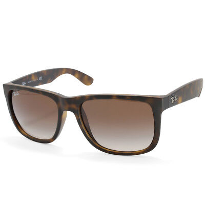 4ab4ebab575 Ray-Ban RB4165 710 13 Justin Matte Havana Brown Gradient Sunglasses Sizes 51