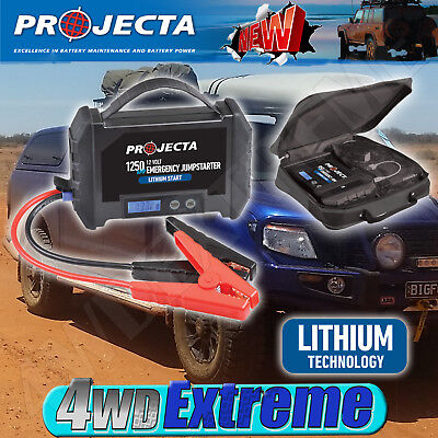 Projecta 12V Lithium Jump Starter and Portable Power Bank New LS1250 1250A