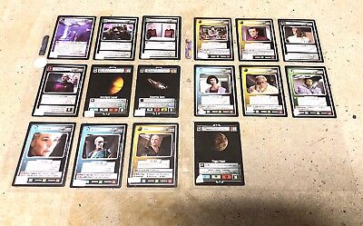 Star Trek CCG Q Continuum TNG Lot of 16 Cards