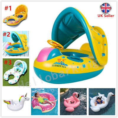 Baby Inflatable Swimming Ring Kids Float Trainer Safety Seat Pool Water Aid Toy