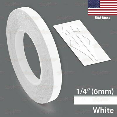 """6mm 1//4/"""" PinStriping Pin Stripe Tape SOLID Line Decor Decal Vinyl Sticker WHITE"""