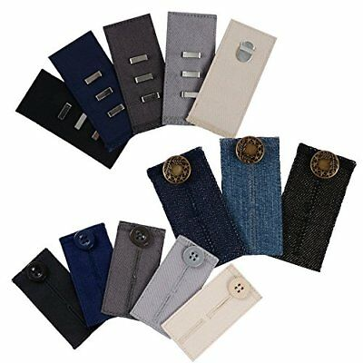 Comfy Pants Bundle - 13 Pant Waist Extenders (3 Types) for Dress Pants, Khakis a