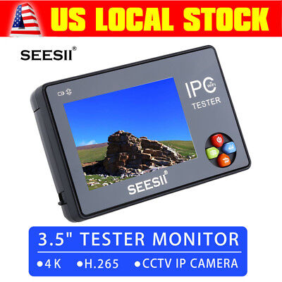 "HD 3.5"" LCD Audio Video Security Tester CCTV IP Camera Test Monitor With Cable"