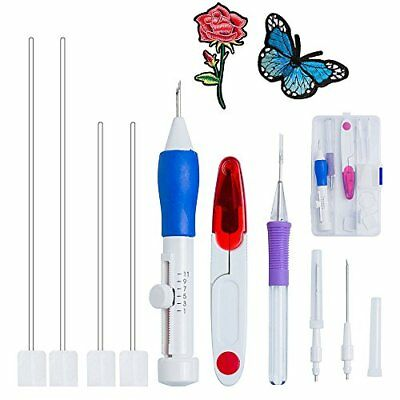 Magic Stickerei Pen Kit, Embroidery Pen Kit Stickerei Pen Kit Punch Nadeln Stric