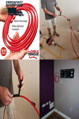 Super Rod Cable Tongue 3.6 M Flat Flexible Cable Pulling Push Pull Draw Tool