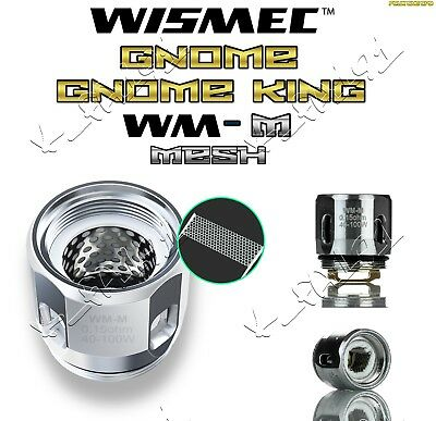 ALL NEW 100% GENUINE WISMEC GNOME / GNOME KING WM-M 0.15ohm MESH COILS 1 OR 5