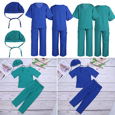 Surgeon Doctor Costume Outfits Kids Boys Girls Role Play Cosplay Fancy Dress up