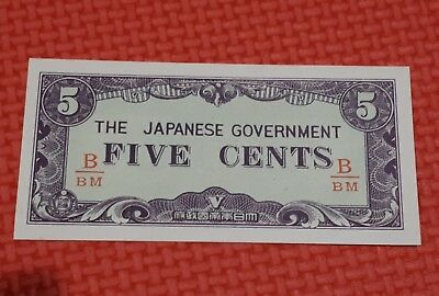 Japanese invasion money unc 5c